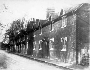 Camomile cottages. Image 'All Rights Reserved' courtesy of Bernard Taylor of the Quinton Local History Society from the John Hope Collection. See Acknowledgements to link to that website.