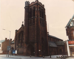 St Agnes Church, now demolished. Photograph kindly supplied by The Cotteridge Church. For a direct link to their website see Acknowledgements.