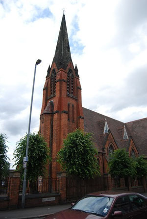 St John's, Sparkhill. Image from Geograph SP0984 by Nigel Chadwick reusable under Creative Commons licence Attribution-ShareAlike 2.0 Generic (CC BY-SA 2.0)