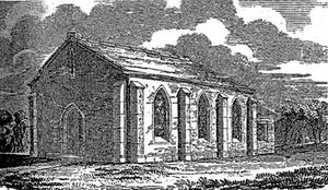 The Old Chapel. Image from  the Home Missionary Chronicle 1839 on Bickenhill Parish Council website. See Acknowledgements.