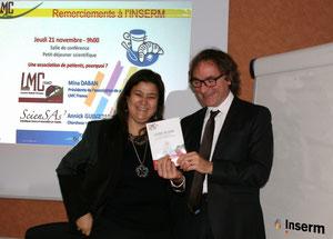 leucémie myeloide chronique france  inserm dominique nobile lmc france livre blanc lmc remise officielle