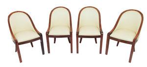 A set of eight gondola chairs, Art Déco Wiesbaden Regine Schmitz-Avila