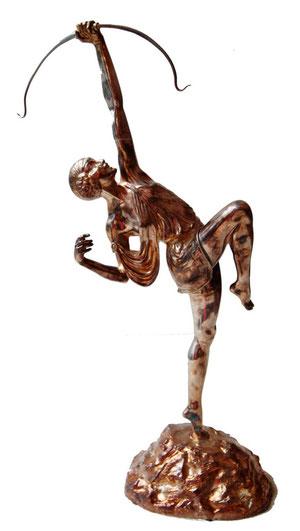 Diana-Bronze, signed, Art Déco Wiesbaden Regine Schmitz-Avila