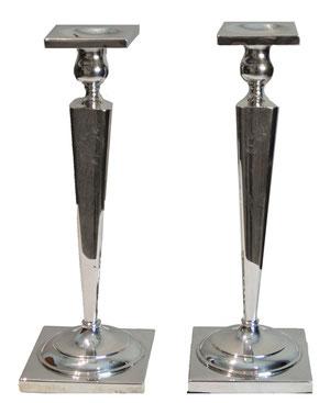 Pair of elegant silver candleholder, Art Déco Wiesbaden Regine Schmitz-Avila