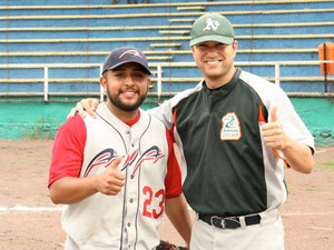 Julio & Coach Dillard from this past summer's AIA baseball tour in Mexico