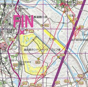 BUM航跡図:大きな三角形を描いて離陸地に戻ってきました。