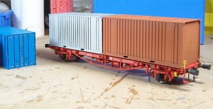 Containerwagen von Agder Modell Teknikk