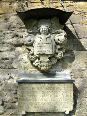 Das Wappen Wrangels an der Obertorschanze
