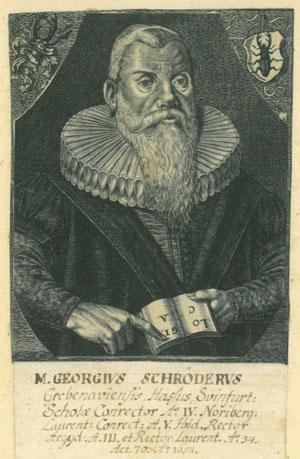 Georg Schröder; Kupferstich von G. Walch datiert 1654; um 1790