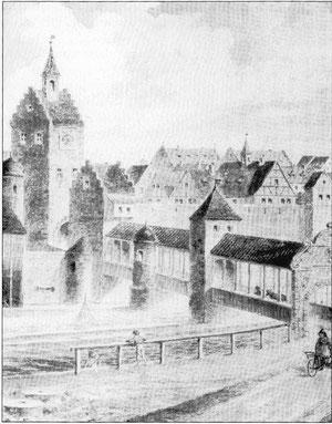 Das Brückentor mit der Staubbrücke