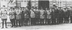 Mitglieder des Reichsbanners Schwarz-Rot-Gold 1924