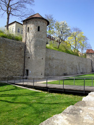 Die Stadtmauer heute am Unteren Ostwall