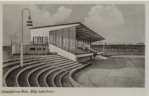 Das Willy Sachs Stadion nach seiner Übergabe