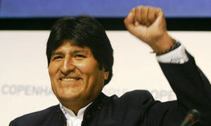 Bolivias præsident Evo Morales