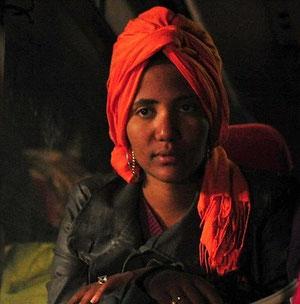Flygtningekvinde i Libyen
