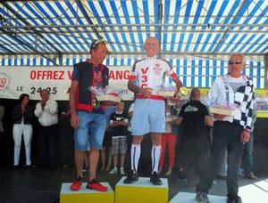 Le podium de la catégorie E