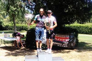 Les vainqueurs du GPM: Julien (groupe2), F. Roger (groupe1)