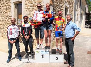 """Le podium des """"GS"""" (manque le 5ème) et la première féminine"""