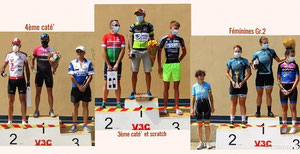 Les podiums du 2ème groupe..........................