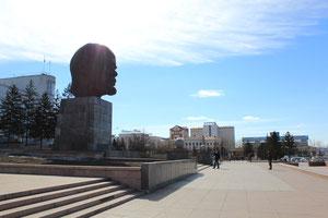 Der größte Lenin weltweit in Ulan Ude, Hauptstadt Burjatien