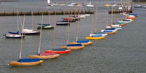 Im Hafen von Lymington