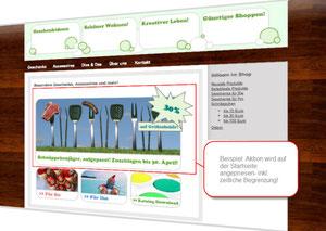 Screenshot: Online-Shop mit Sonderangebot