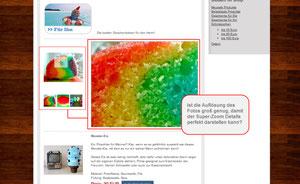 Screenshot: Produktdarstellung - Fotos