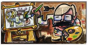 Karel Appel paints a beast