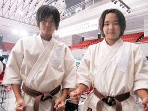 前田島光里選手(右)と、田福美香選手(提供写真)
