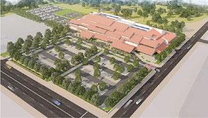 石垣市新庁舎イメージ図(市が配布した説明書より)
