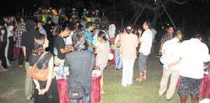 大勢の参加者でにぎわった婚活イベント「星コン」(24日夜)