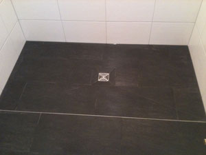 Fertige begehbare Dusche