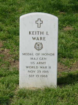 Keith Lincoln Ware is buried in Site 258-3, Section 30 (Photo Wikipedia)