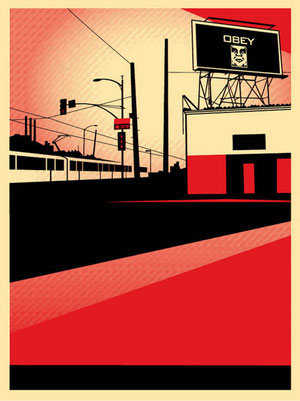 Shepard Fairey SD Billboard Print
