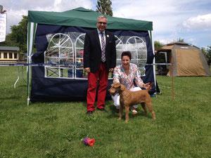 Celtic Crackers Faye le Fay mit dem Richter Herrn Himmrich.