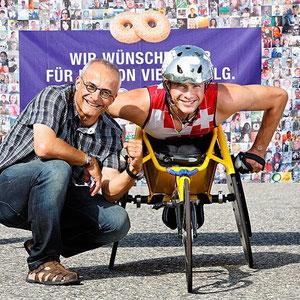 HUG wünscht Marcel Hug Glück für die Paralympics