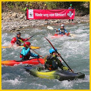 """WWF-Aktion: """"Rettet die letzten Alpenflüsse"""""""