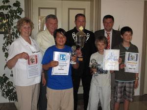 Stadtmeister von 2008 Toni Kottmair und Dennis Lassner