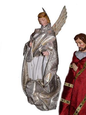 Der Engel erklärt Josef die Menschwerdung Gottes, Milieukrippe Lyskirchen