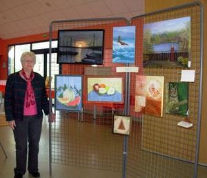 expo 2014 de Compainville (Mado et ses peintures à l'huiles fines)