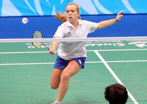 Sarah Milne in action at the Singapore Youth Olympics