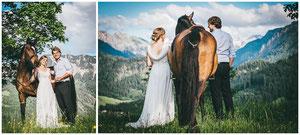 Hochzeitsshooting Allgäu - Allgäu Pferd in Bad Hindelang