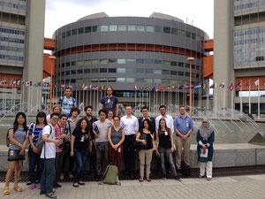 Teilnehmer der 2014 Middle East Summer School beim IAEA-Hauptquartier in Wien