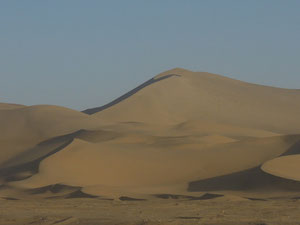Sanddunes outside Dunhuang