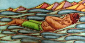 L'enfant couché sur la mer