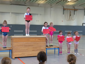 1. Platz: Ulrike   2. Platz: Lilly  3. Platz: Mirfath und Malina 5. Platz: Stella 6. Platz: Annabell 7. Platz: Lena