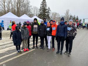 Выборгские легкоатлеты с тренером Анастасией Захаровой