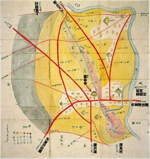 下鶴間宿(文久図)
