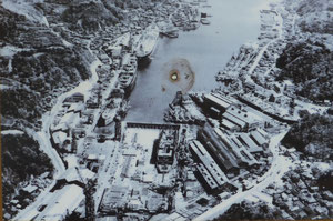 1950年代の浦賀ドック全景(「浦賀・追浜百年の航跡」より)