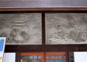 西叶神社「鏝絵(こてえ)」(石川善吉)